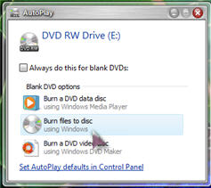 Burn using Windows